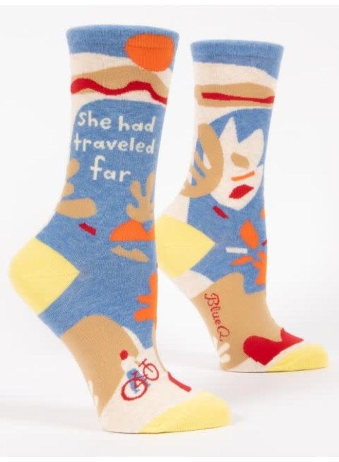 She Traveled Far Women's Crew Socks