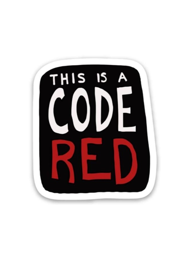This Is A Code Red Sticker - Stranger Things