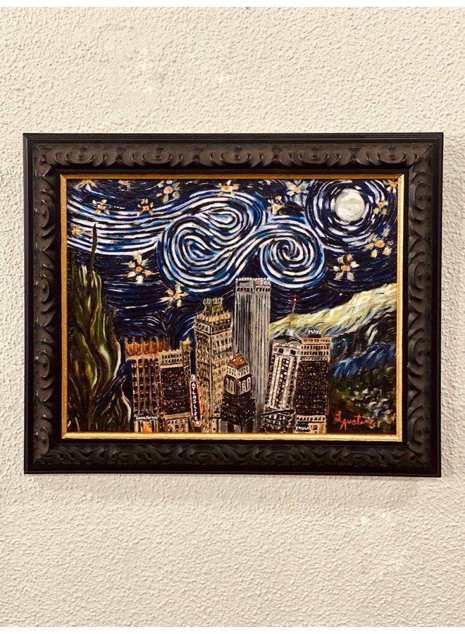 Tulsa in the Stars (Starry Nights) 11x14