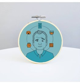 Holly Oddly Bill Murray Embroidery Kit