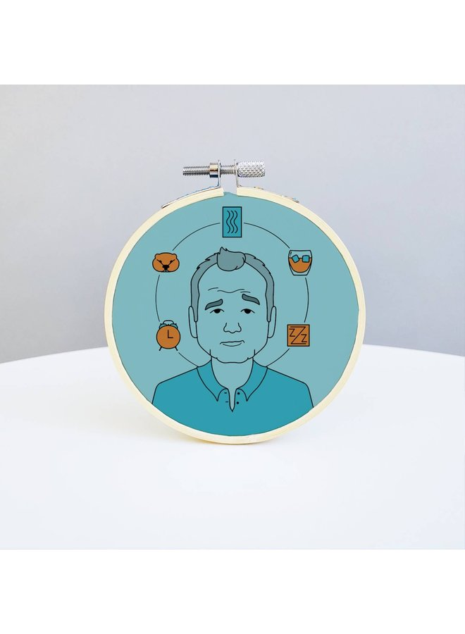Bill Murray Embroidery Kit