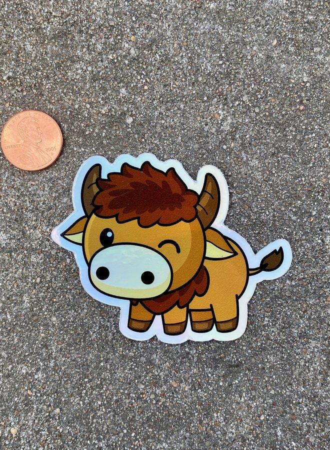 Holographic Bison Sticker