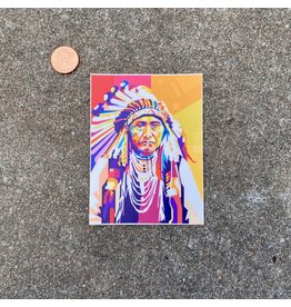 Steven Paul Judd Native Headdress Pop Art Sticker