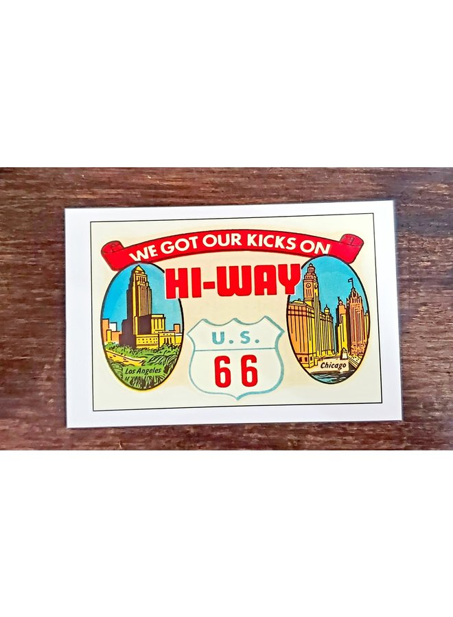 Route 66 Decal Postcard