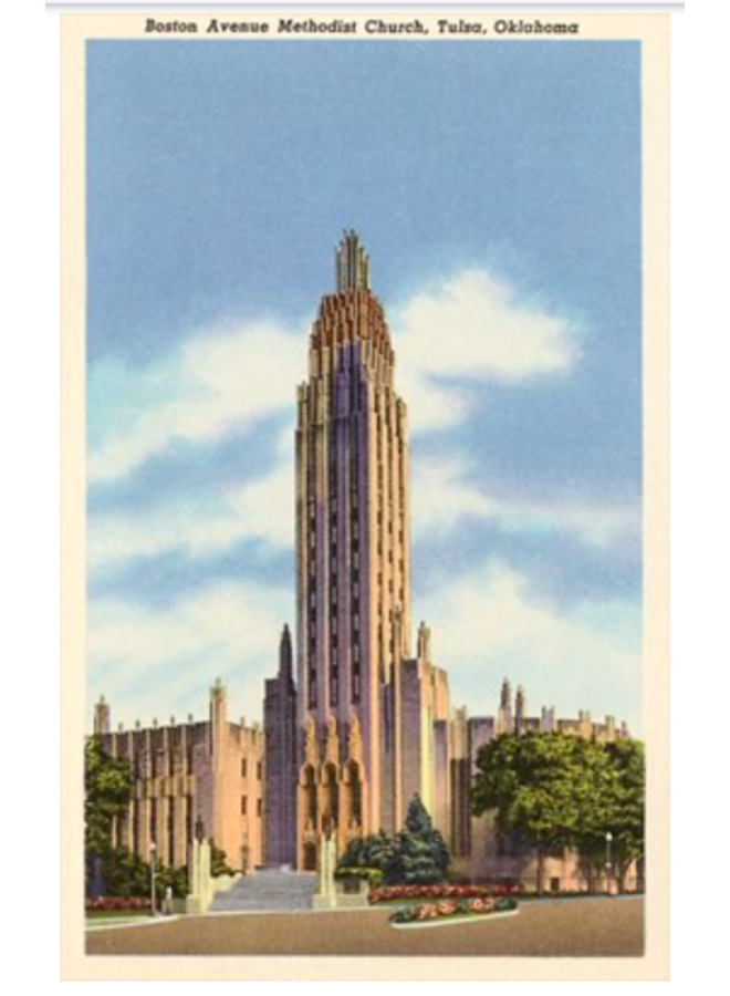 Methodist Church Tulsa Postcard