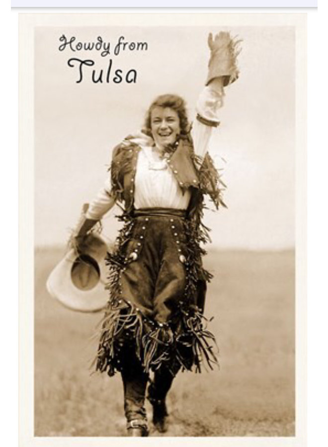 Howdy From Tulsa Postcard