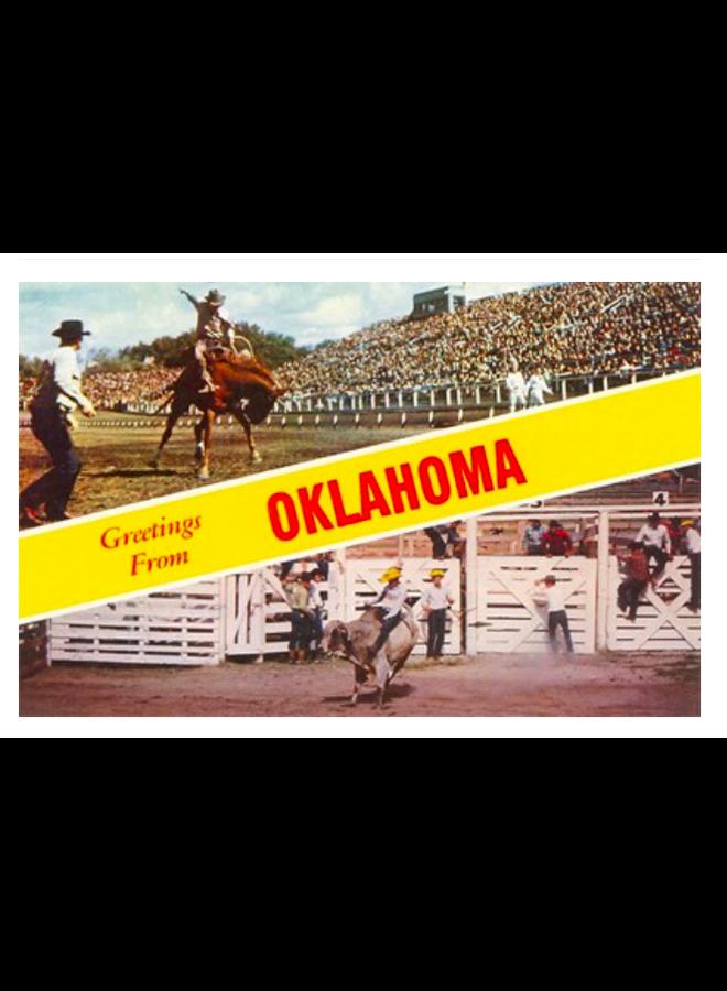 Greetings from Oklahoma Rodeo Views Postcard