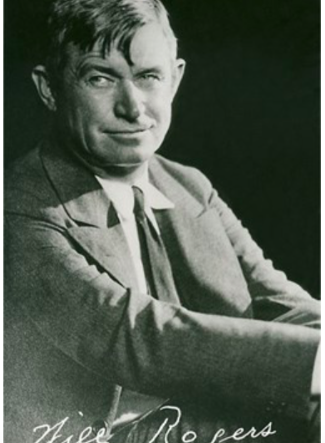 Signed Will Rogers Portrait Postcard