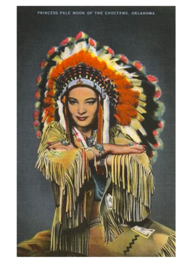 Princess Pale Moon Choctaw Postcard