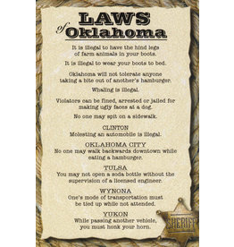 Real Time Products Laws of Oklahoma Post Card