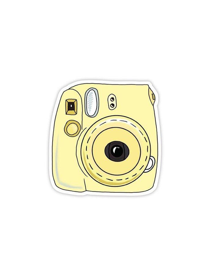 Instant Camera Yellow Sticker