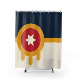 Ida Red Tulsa Flag Shower Curtain