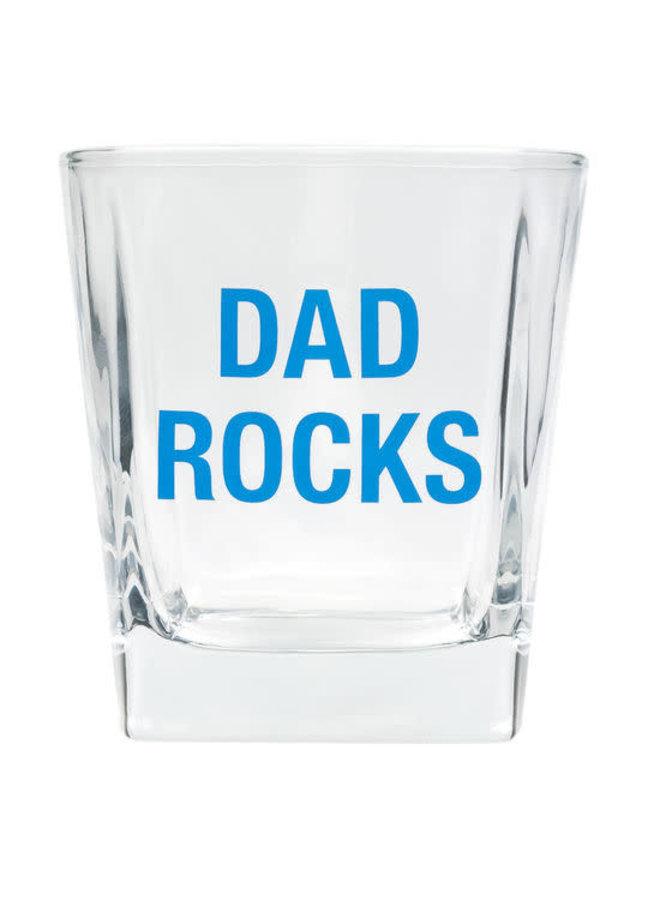 Dad Rocks Rocks Glass