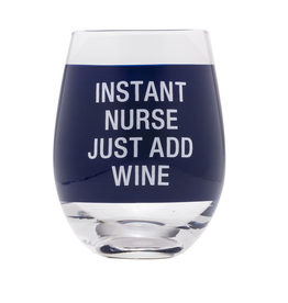 About Face Instant Nurse Wine Glass