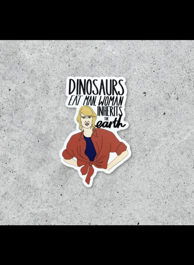 Jurassic Park Feminist Sticker