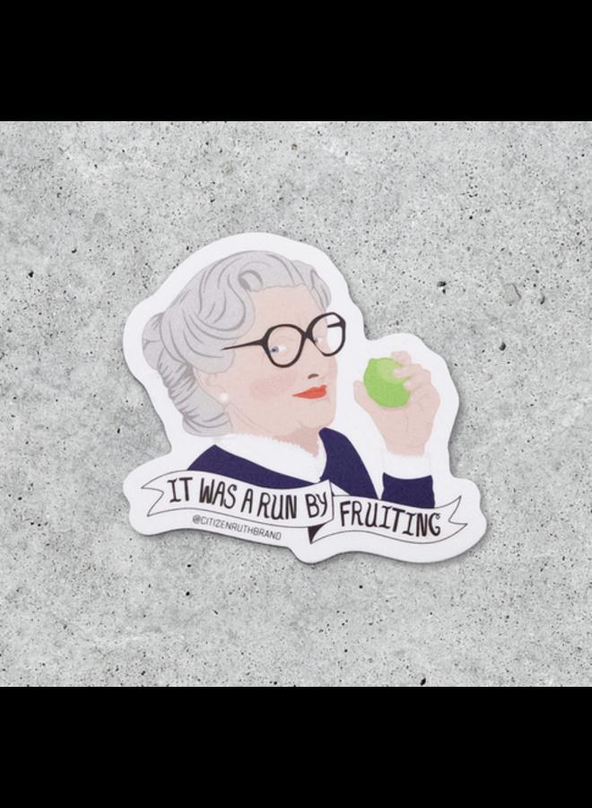 Mrs. Doubtfire Run By Fruiting Sticker