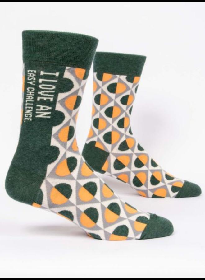 I Love Easy Challenge Men's Socks