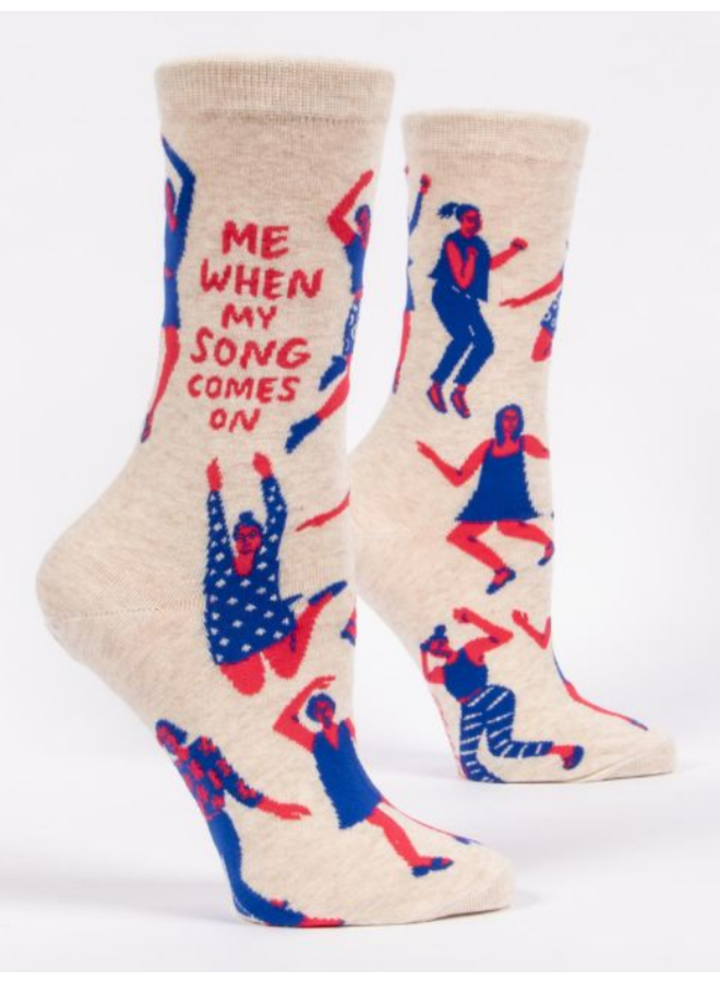 When My Song Comes On Women's Crew Socks