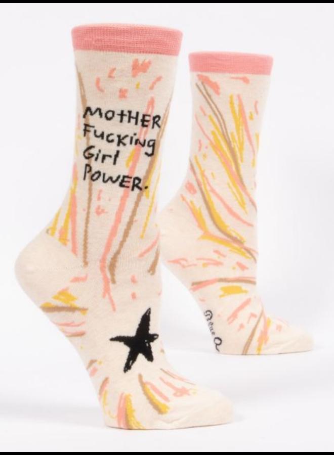 Mother Fucking Girl Power Women's Crew Socks