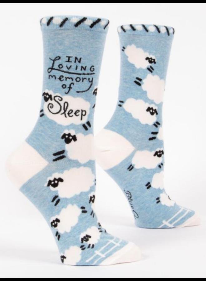In Loving Memory of Sleep Women's Crew Socks