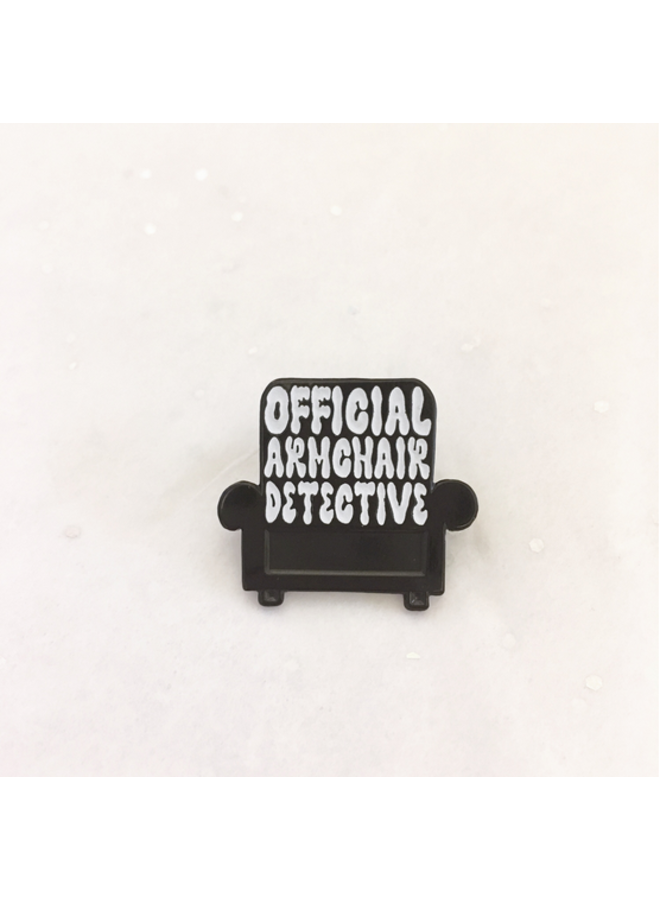 Official Armchair Detective Enamel Pin
