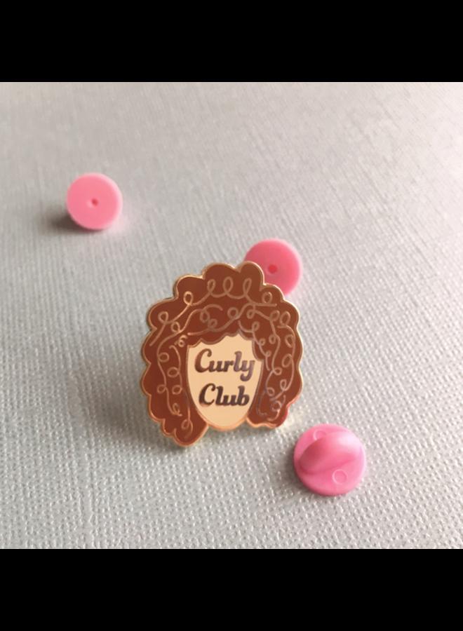 Curly Club Enamel Pin 3