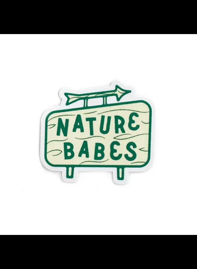 Nature Babes Sign Sticker