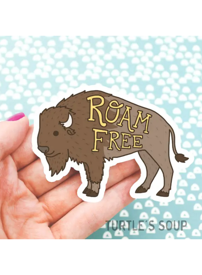 Roam Free Buffalo Vinyl Sticker