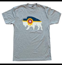 Mythic Press Bison Flag Tshirt