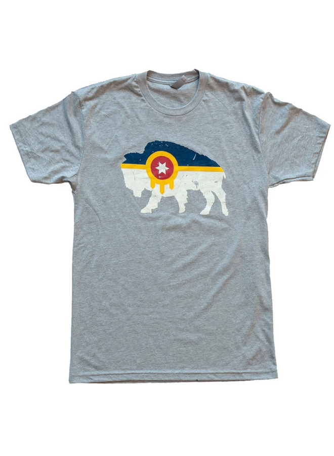 Bison Flag Tshirt