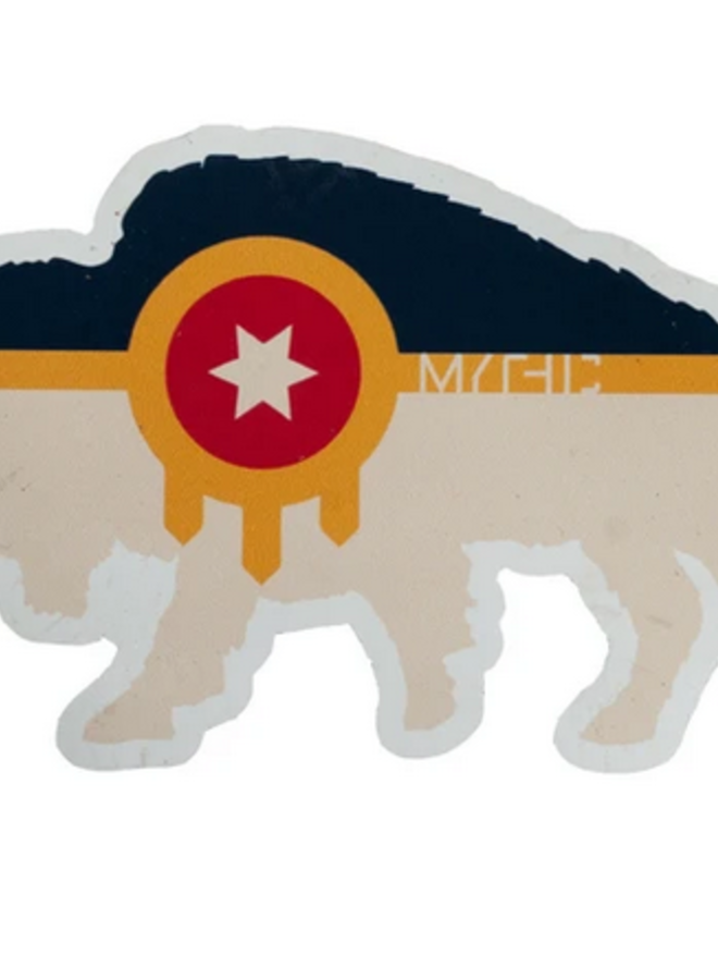 Bison Tulsa Flag Sticker