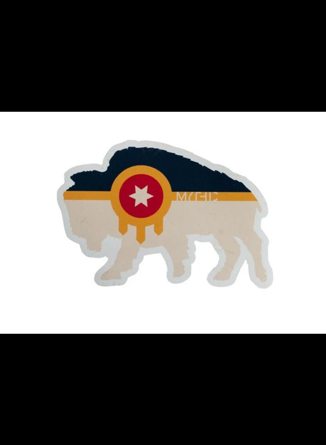 Bison Tulsa Flag Sticker