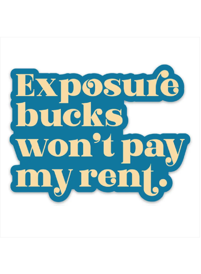 Exposure Bucks Sticker