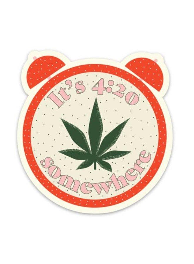 420 Somewhere Sticker