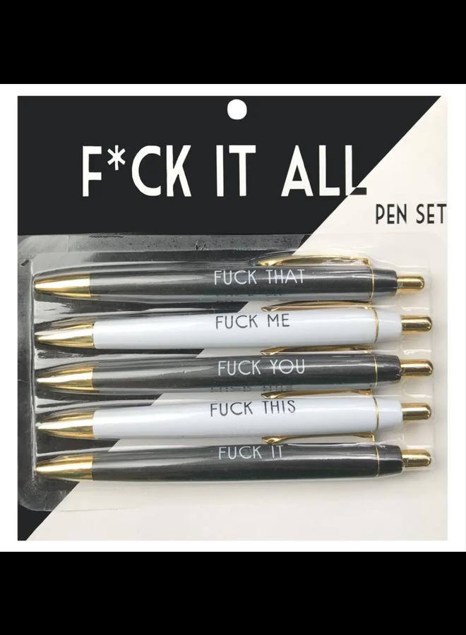 F*ck It All Pen Set