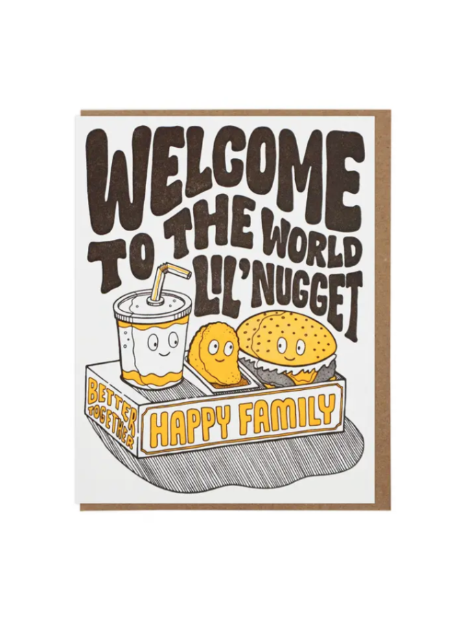 Welcome Lil Nugget Card