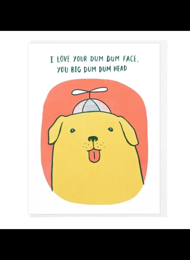 Dum Dum Head Dog Card