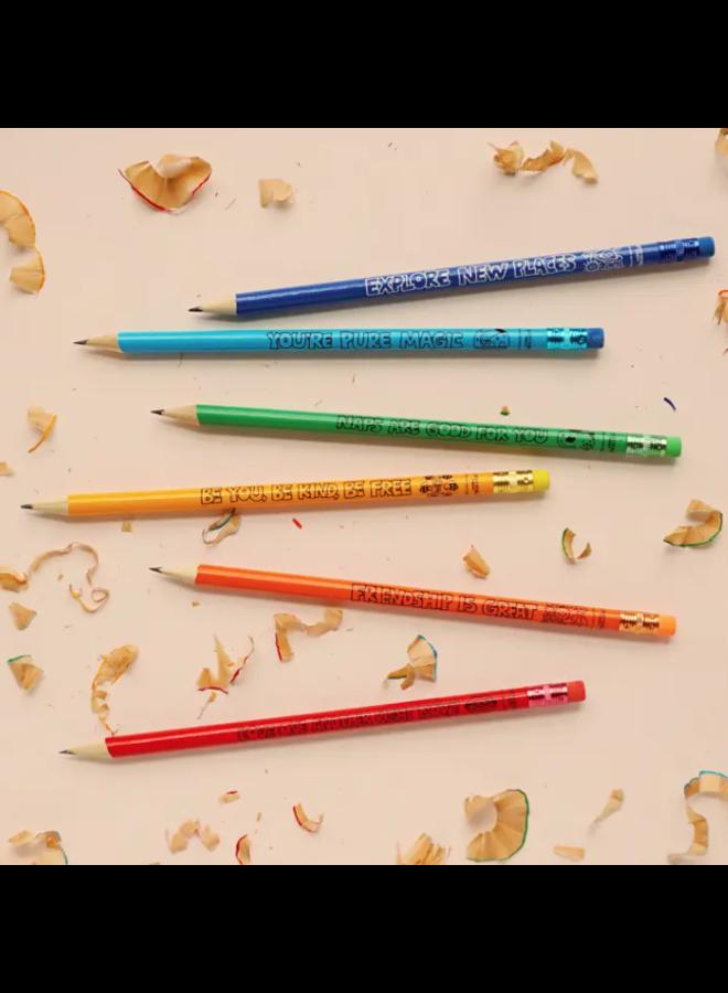 Friendly Reminders Wood Pencils