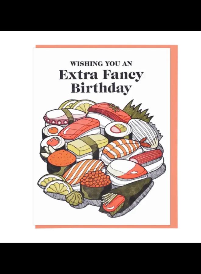 Extra Fancy Sushi Birthday Card