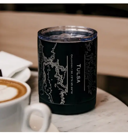 JACE.design Tulsa Map Insulated Cup in Matte Black