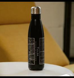 JACE.design Tulsa Map Insulated Bottle In Matte Black