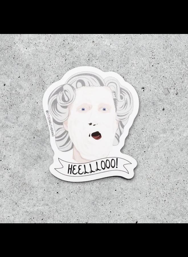 Mrs. Doubtfire Helllooo Sticker