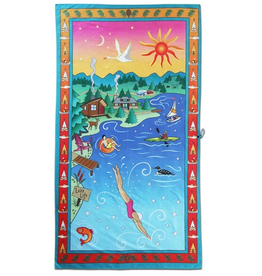 CatStudio Lake Life Beach And Travel Towel