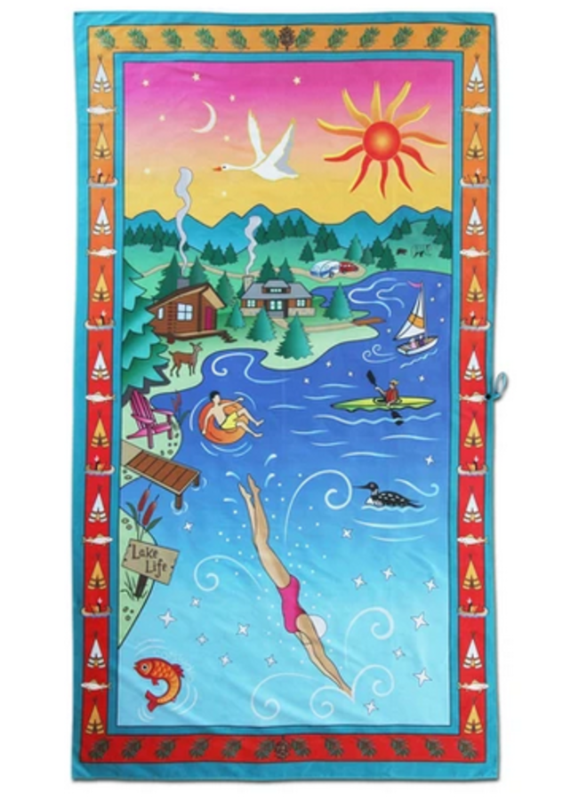 Lake Life Beach And Travel Towel