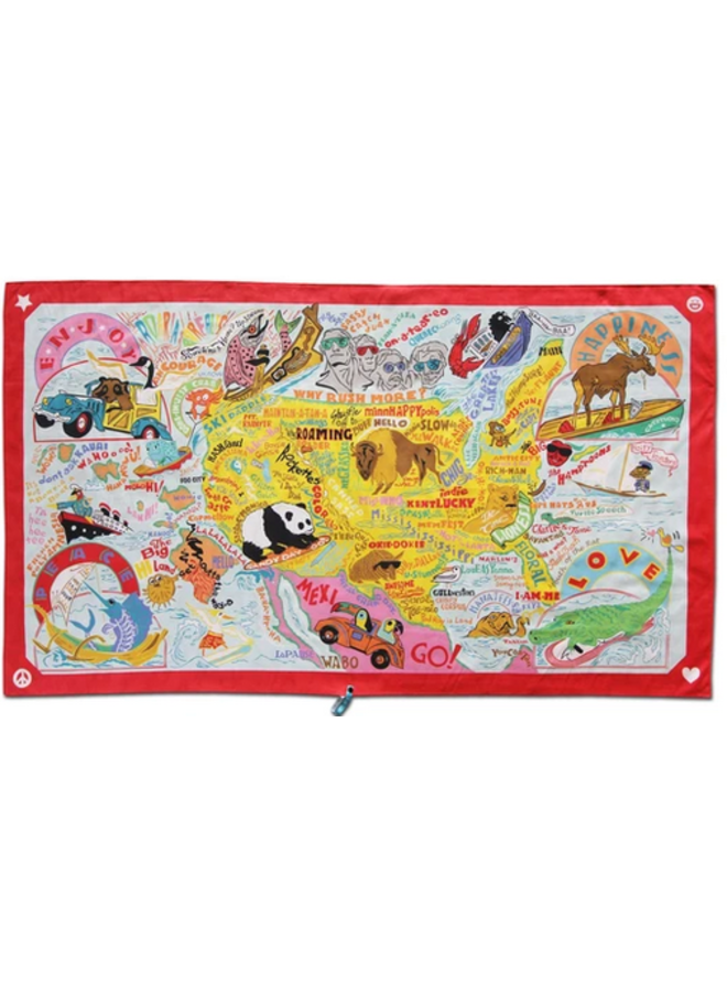 America Beach And Travel Towel