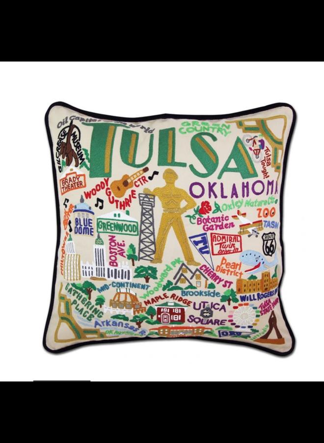 Tulsa Pillow Black Piping
