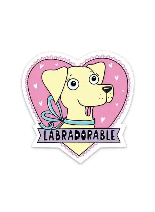Labradorable Sticker - Yellow