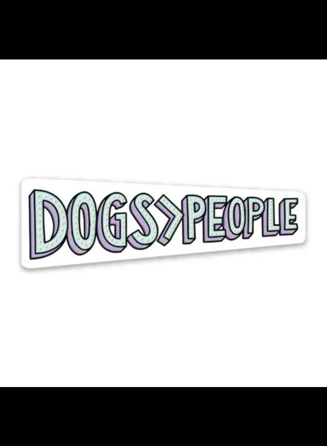 Dogs People Sticker