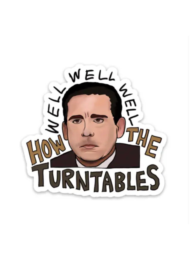 How The Turntables -Office Sticker