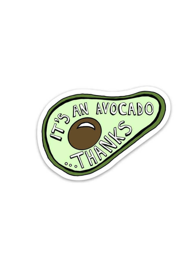 It's an Avocado Thanks Sticker